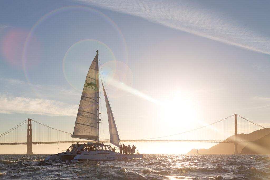 Sailing the bay at sunset