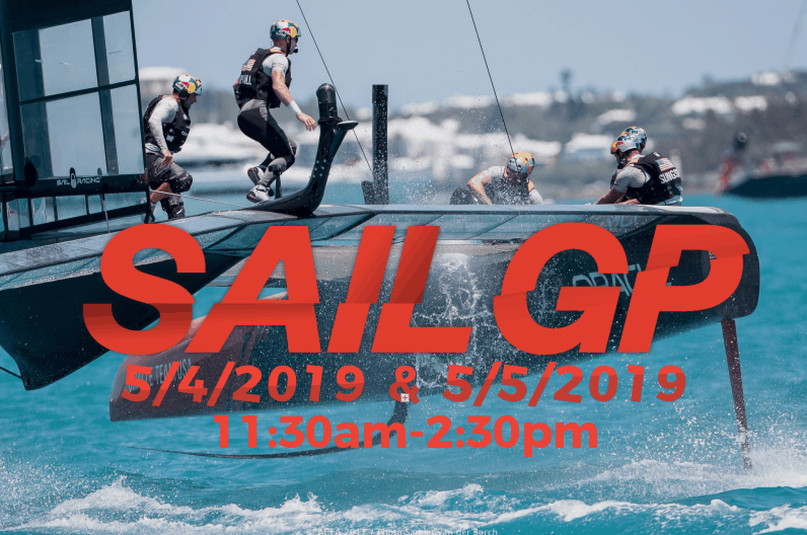 promotional graphic for the SAIL GP special sail on May 4 and 5