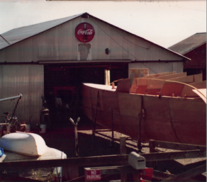 Boat being built